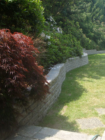 Stone, Timber and Brick Retaining Walls